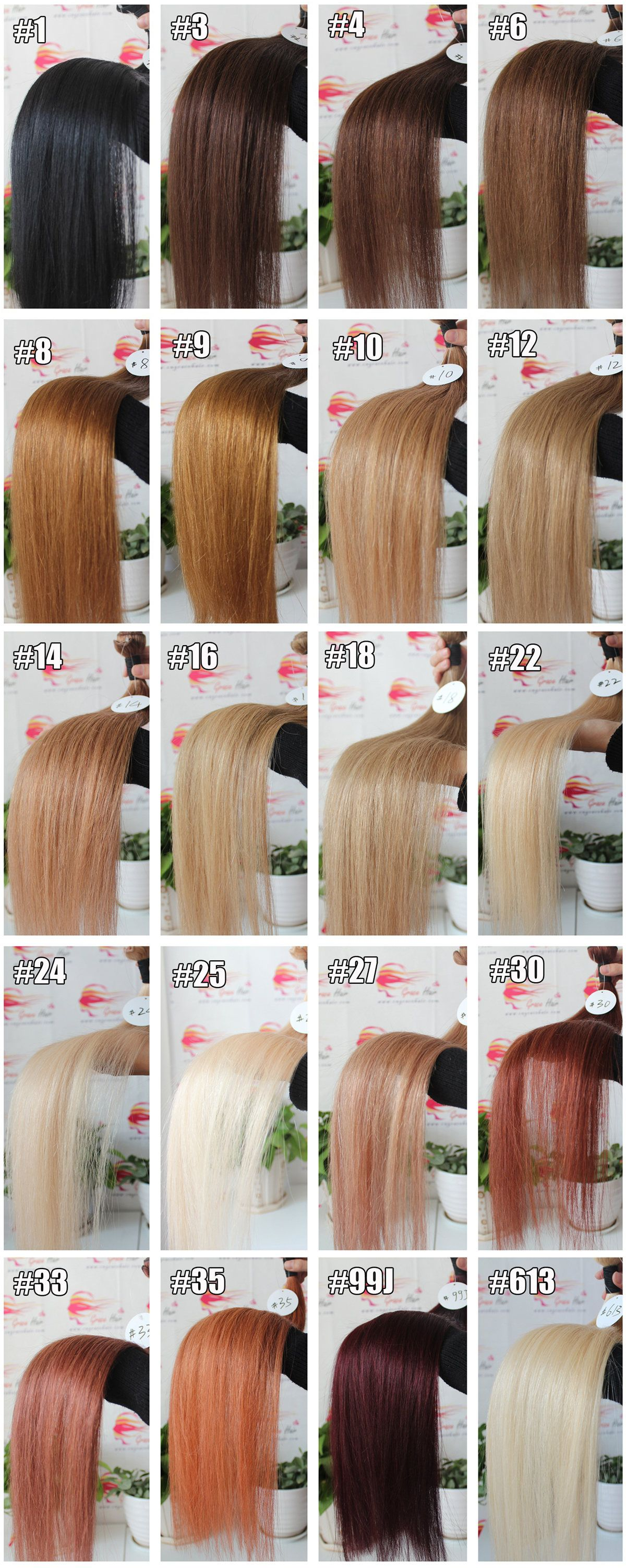 Color chartgrace hair products coltd about grace hair geenschuldenfo Images